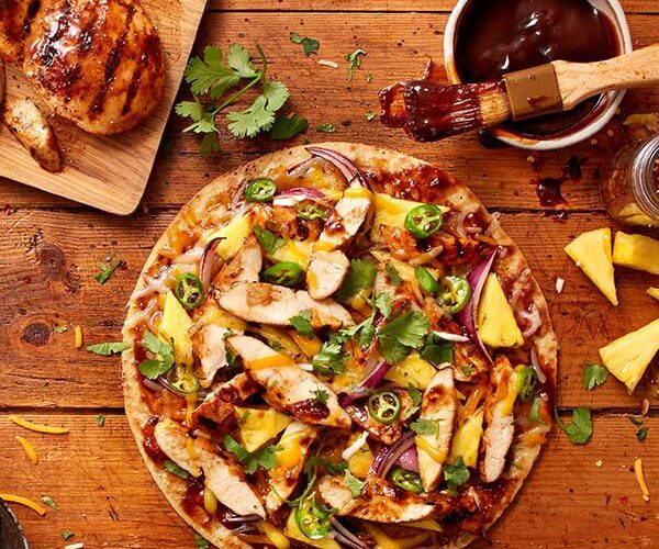 BBQ Chicken on Cauliflower Crust Pizza