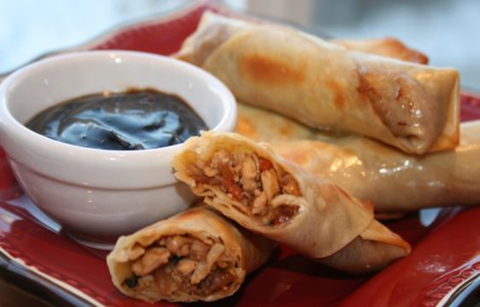 Spicy Chicken Spring Rolls