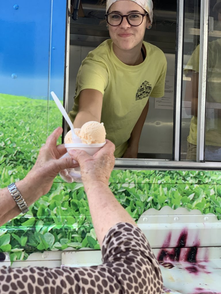 We love to support local businesses - thank you to the Frozen Farmer for the delicious treats to beat the heat.