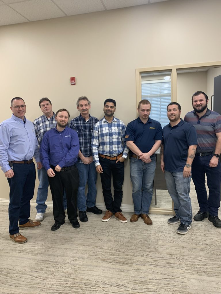Members of our IT department rocking blue in support of Colorectal Cancer Awareness Month.