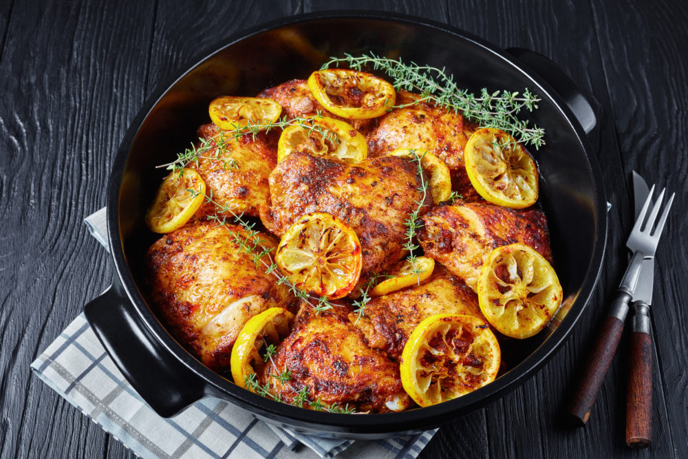 baked Chicken Thighs in a dutch oven